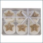 Christmas candles in a gift box (6 pcs)