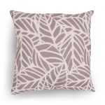 Cushion Cover - Beige/Brown Leaf Pattern