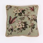 Cushion Cover with Butterflies and Flowers