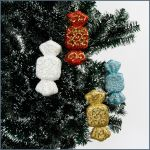 Candy shaped Christmas tree ornament